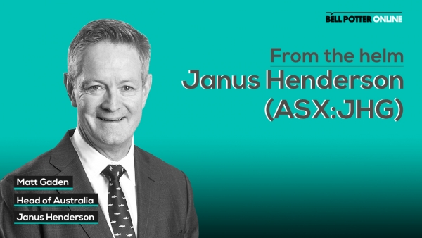 From the helm: Janus Henderson's (ASX:JHG) Head of Australia, Matt Gaden