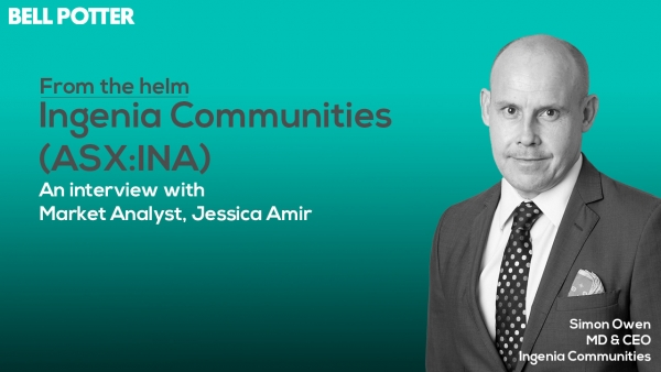 From the helm: Ingenia Communities' (ASX:INA) MD & CEO Simon Owen